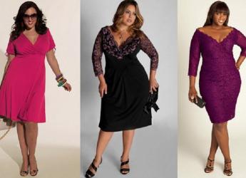 Девушкам с явно обозначенным животиком необходимо выбирать платье с завышенной линей талии. Такой фасон скроет также большие бедра и бока.