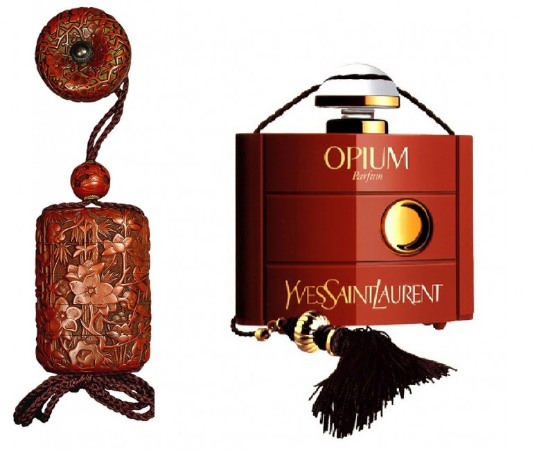 Аромат «Opium» Ив Сен Лоран создал не только как духи, но также как парфюмерную и туалетную воду.