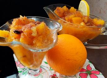 Этот десерт удивительно хорош и в сочетании с апельсином.