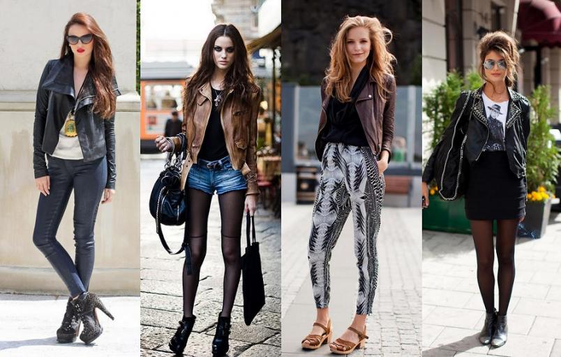 При помощи кожаной куртки можно создавать самые разные образы, которые будут подходить всем без исключения.