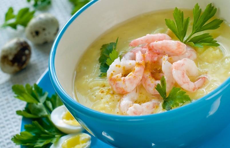 Как ни странно, но вкус морепродуктов добавляет изюминку тыквенному вкусу.