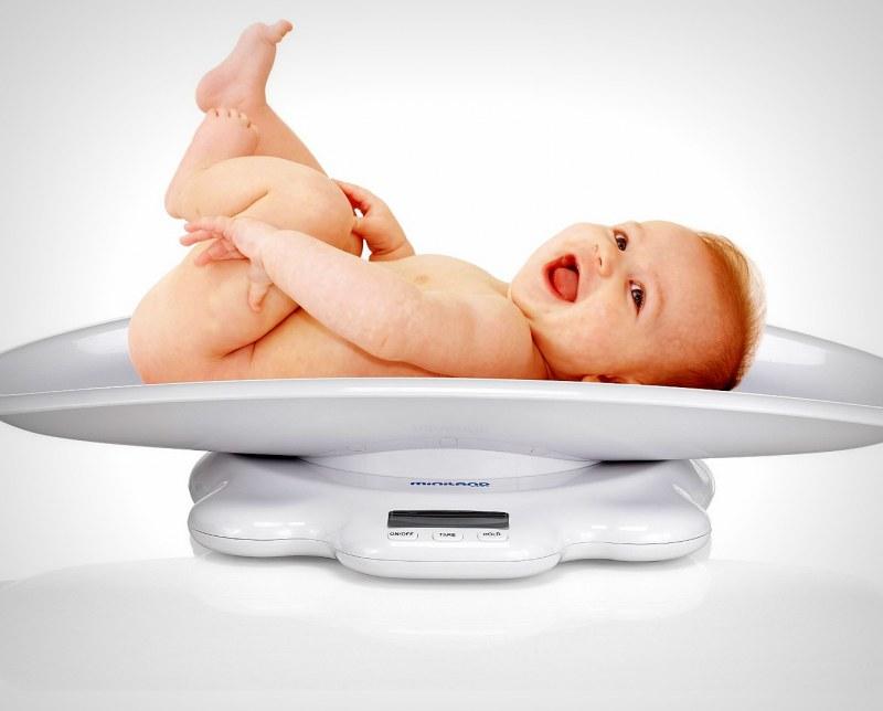 Наибольшая прибавка в весе приходится на 1—3 месяцы.