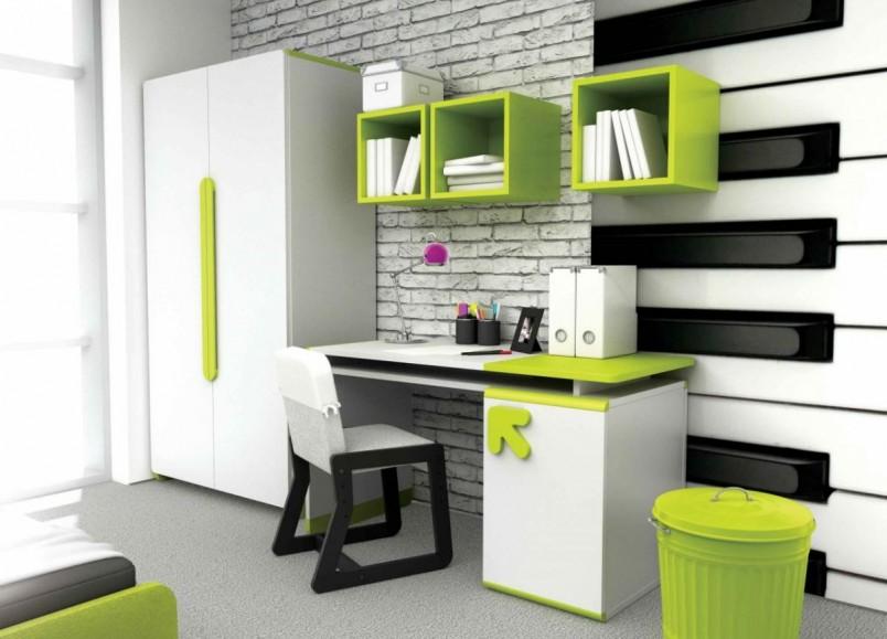 Для мальчиков подойдет зеленый цвет, он не отвлекает от работы и обладает успокаивающим эффектом.