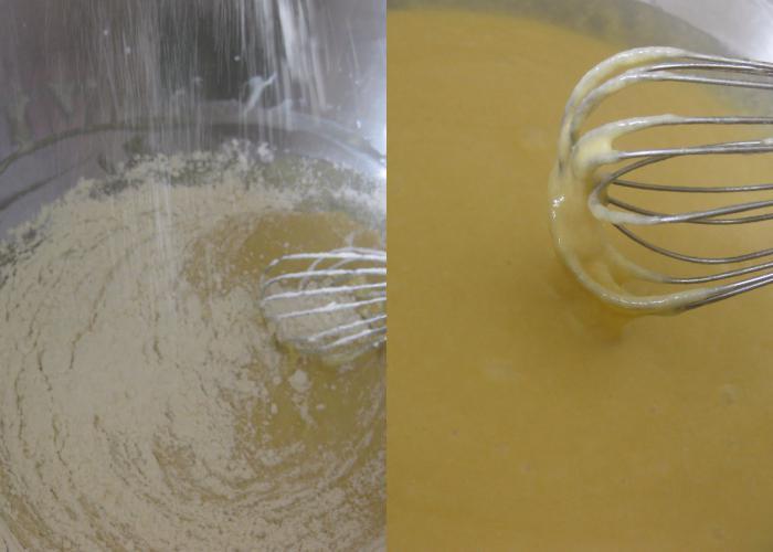 Чтобы тесто для оладьев на дрожжах получилось более вкусным и эластичным муку рекомендуется просеивать 2-3 раза.