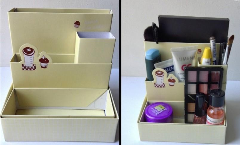 Органайзеры для косметики из коробок своими руками 106
