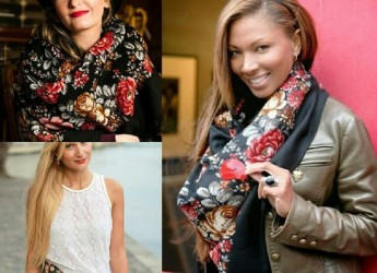Элегантные образы, которые можно создавать, используя платок, идут совершенно в разрез с блеклыми одеждами, которые чаще всего можно встретить на улице.