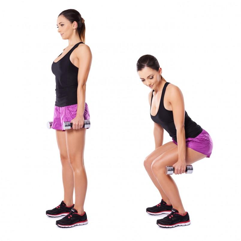 Выполнение приседаний с дополнительным весом усиляют корпус, стабилизируя тело во всем диапазоне движения.