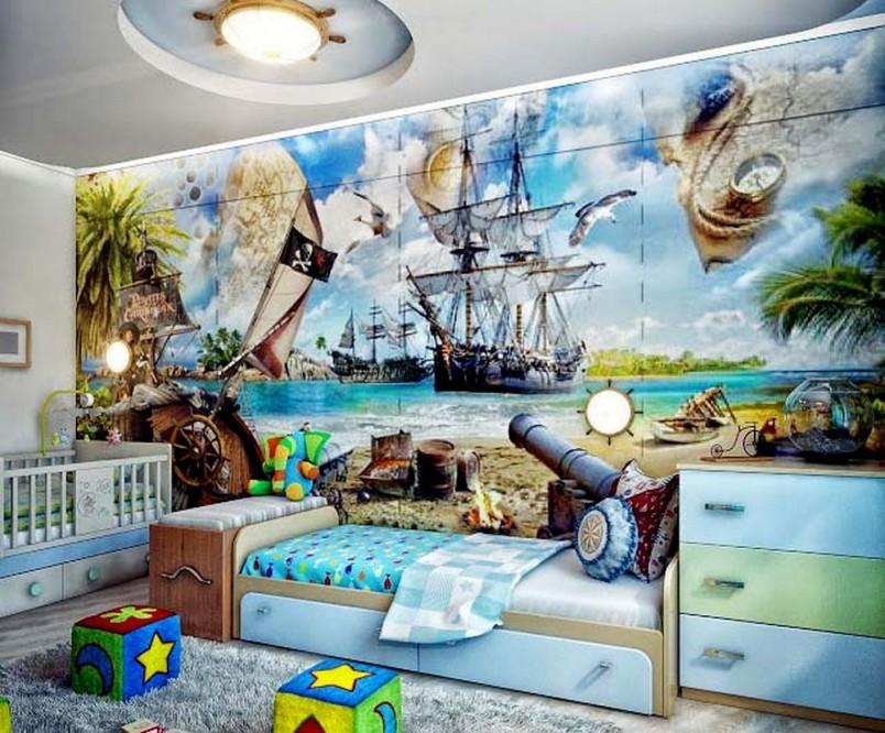 При разработке дизайна детской комнаты мальчика лучше опираться на современный стиль интерьера.