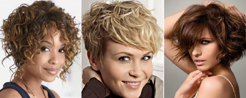 Ассиметричные линии, нестандартный вариант пробора и другие экстравагантные модели вызовут массу неудобств в процессе укладки вьющихся волос.