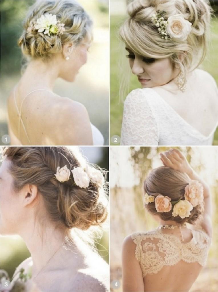 Прическа, после платья, является самым важным украшением образа невесты. Она должна соответствовать стилю наряда.