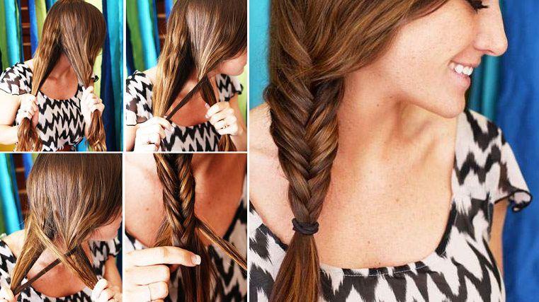 """Если у вас красивые длинные волосы причёска """"рыбий хвост"""" будет украшением на все случаи жизни."""