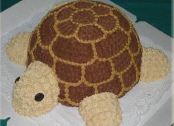 """Торт """"Черепаха"""" отличное лакомство для детского праздничного стола."""